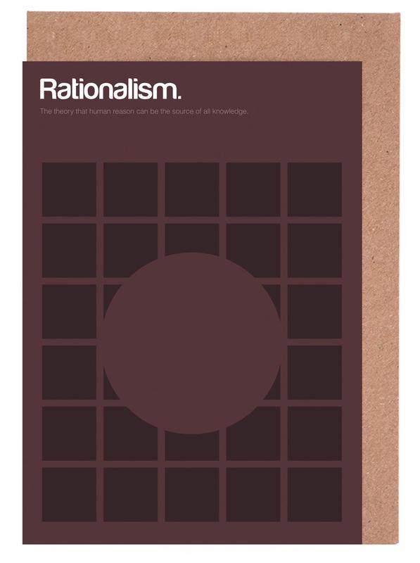 Rationalism -Grußkarten-Set