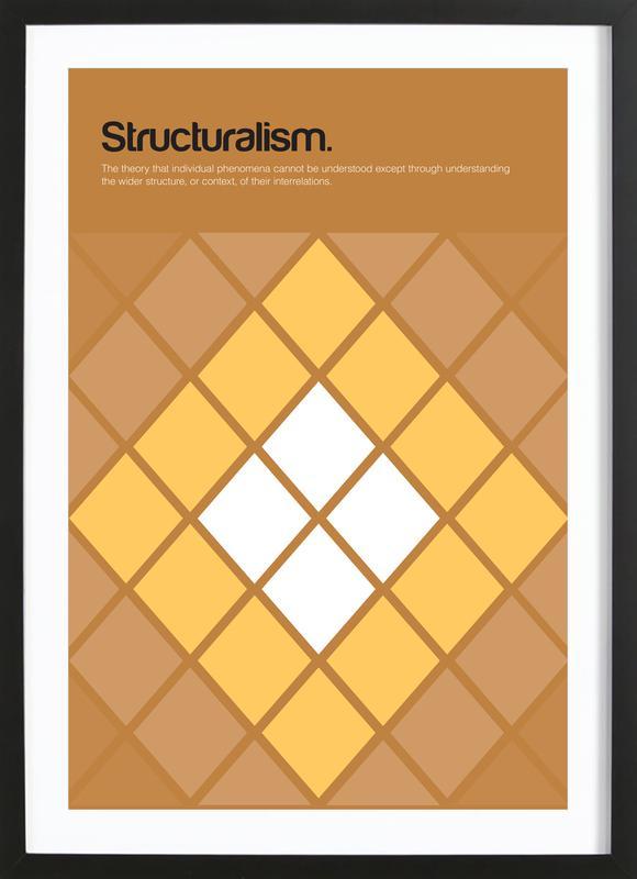 Structuralism affiche sous cadre en bois
