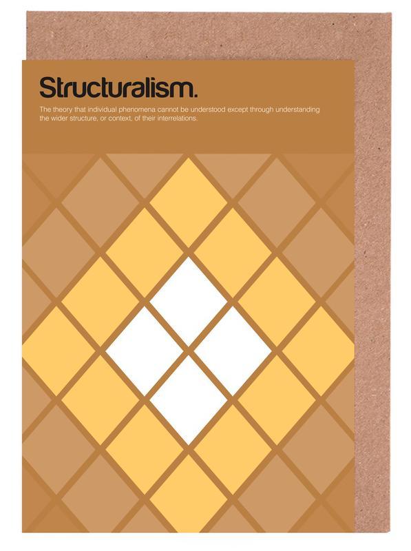 Structuralism -Grußkarten-Set