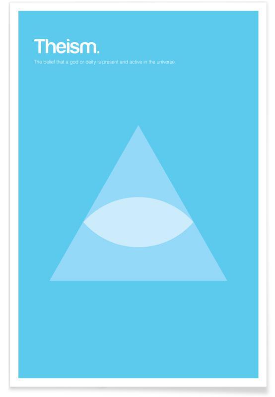 Théisme - Definition minimaliste affiche