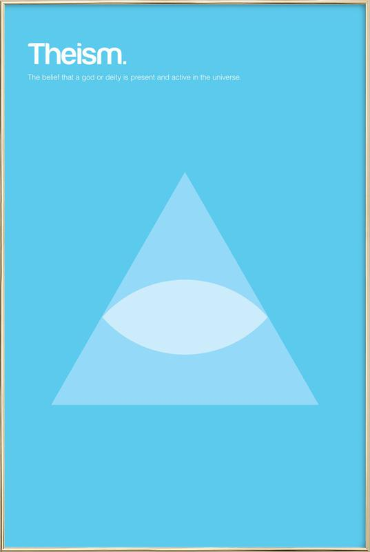 Theism Poster in Aluminium Frame