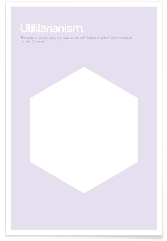 Symbolen, Utilitarisme - minimalistische definitie poster