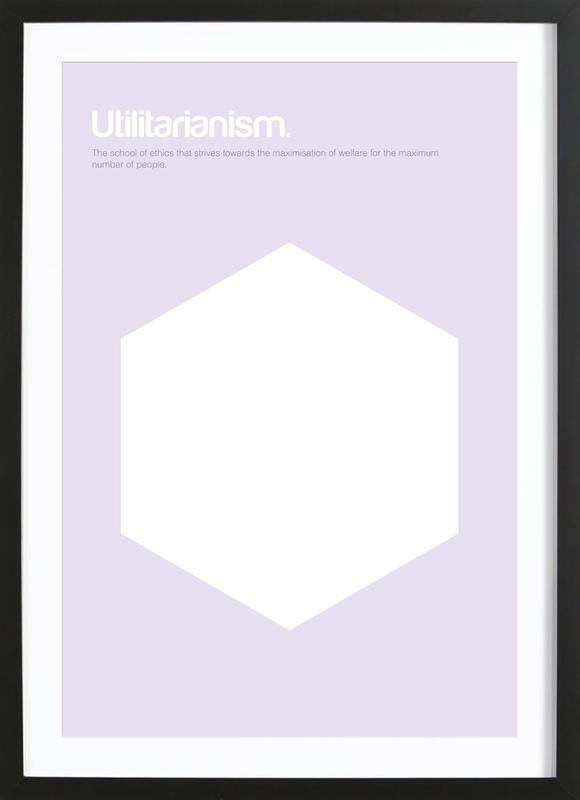 Utilitarianism ingelijste print