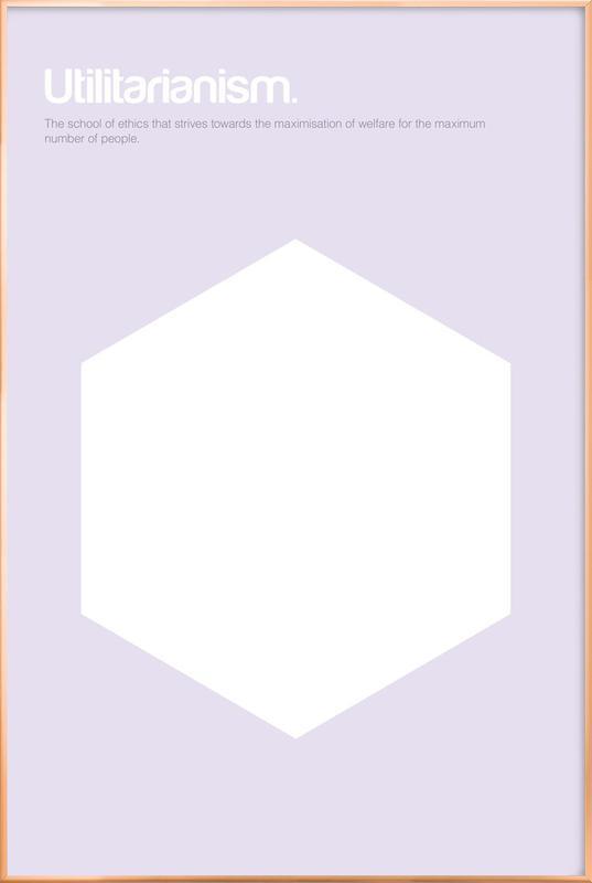 Utilitarianism -Poster im Alurahmen