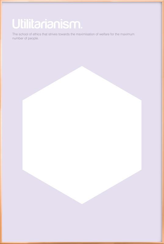 Utilitarianism poster in aluminium lijst