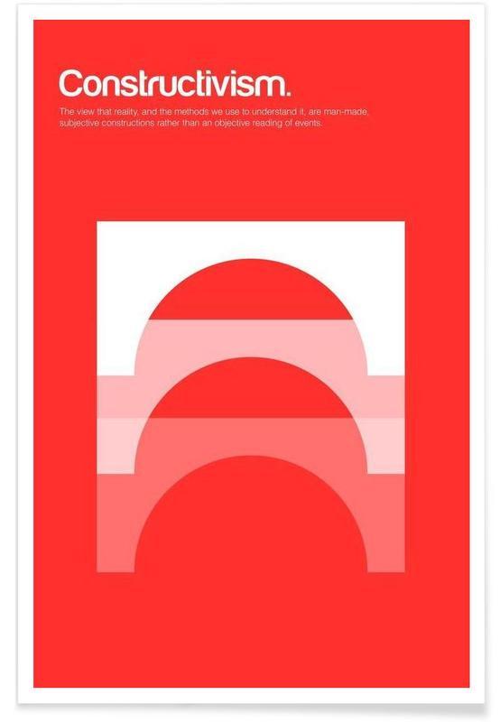 Constructivisme - minimalistische definitie poster