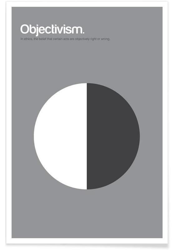, Objectivisme - Definition minimaliste affiche