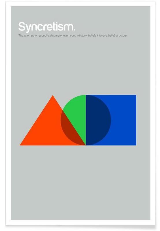 , Syncrétisme - Definition minimaliste affiche