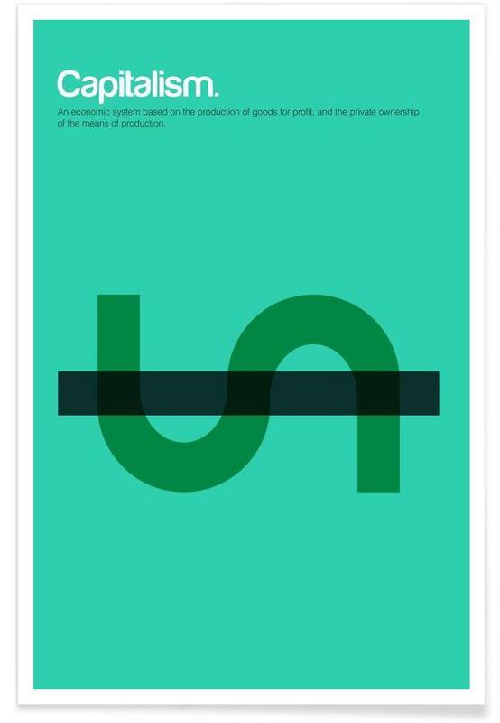 Capitalisme - Definition minimaliste affiche
