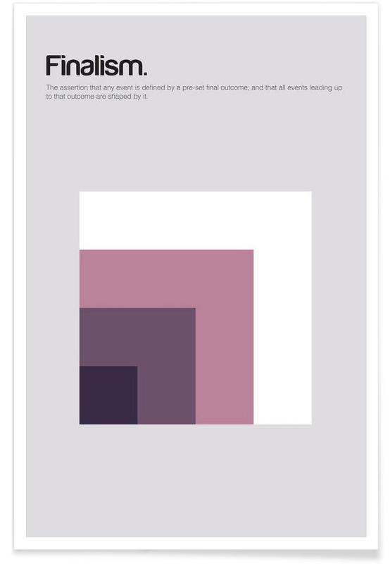 , Finalisme - Definition minimaliste affiche