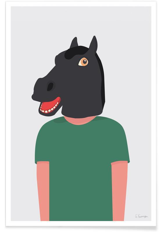 Funny, En Smuk Dag Som Hest Poster