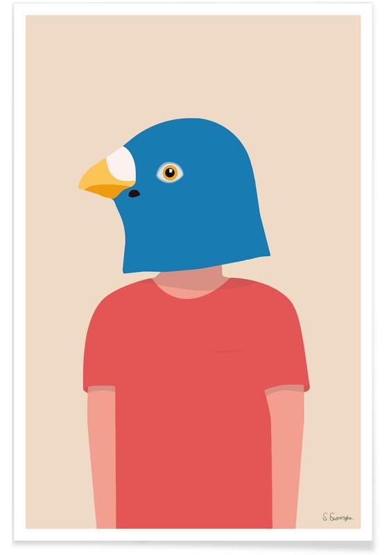 Humour, En Smuk Dag Som En Fugl affiche