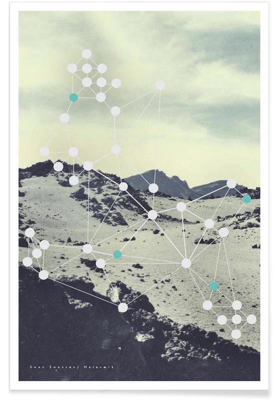 Montagnes, Netvaerk affiche
