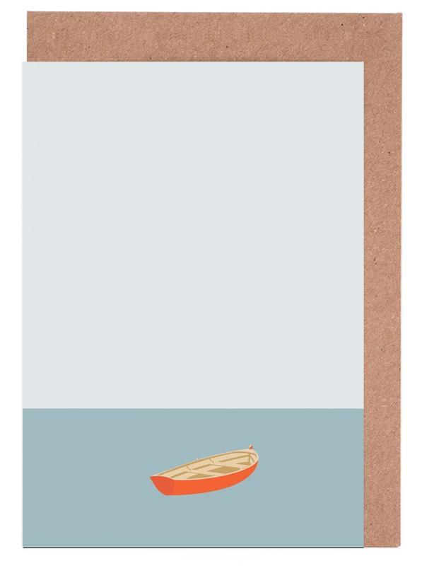 Ocaen Svømmere Boat Greeting Card Set