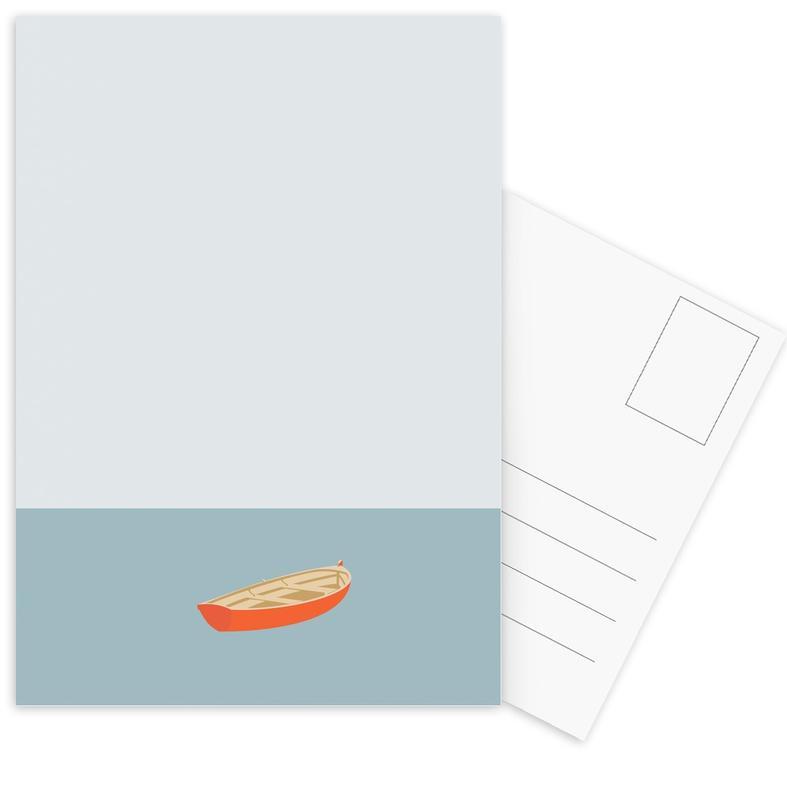 Ocaen Svømmere Boat Postcard Set