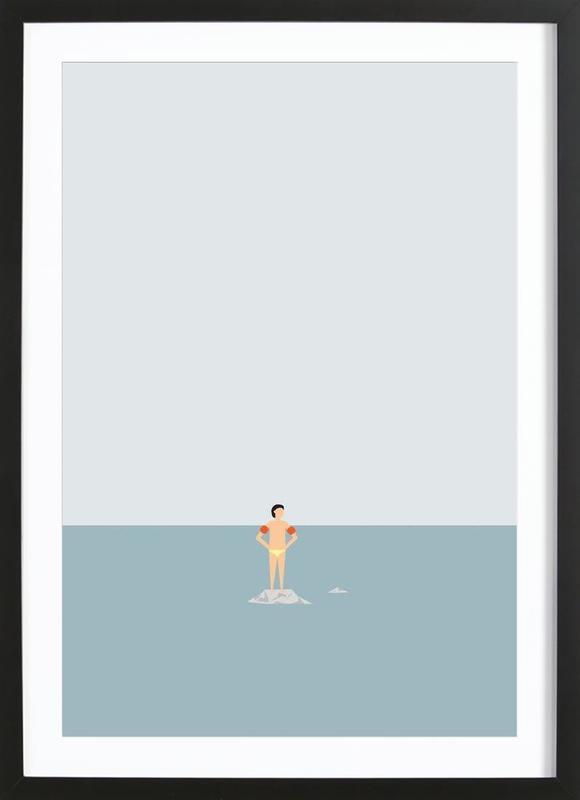 Ocean Svømmere Boy Framed Print