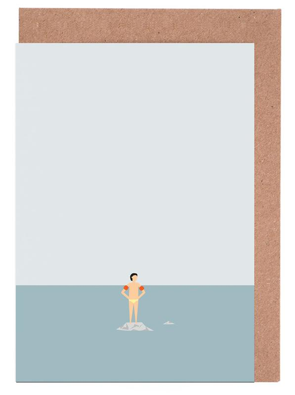 Ocean Svømmere Boy -Grußkarten-Set