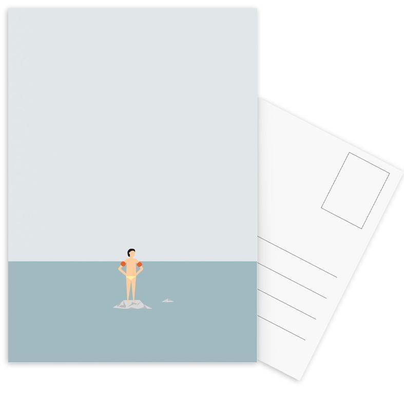 Natation, Ocean Svømmere Boy cartes postales