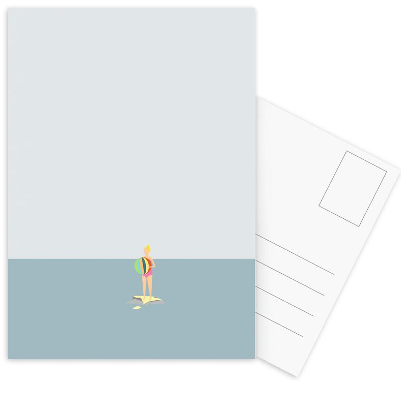 Swimming, Ocaen Svømmere Girl Postcard Set