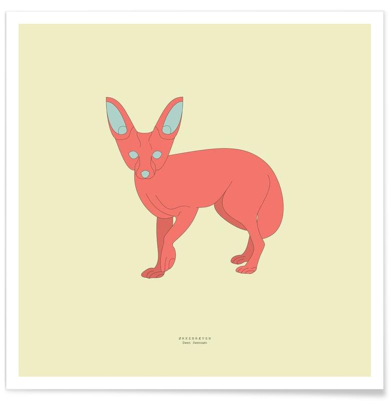 Foxes, Orkenkraeven Poster