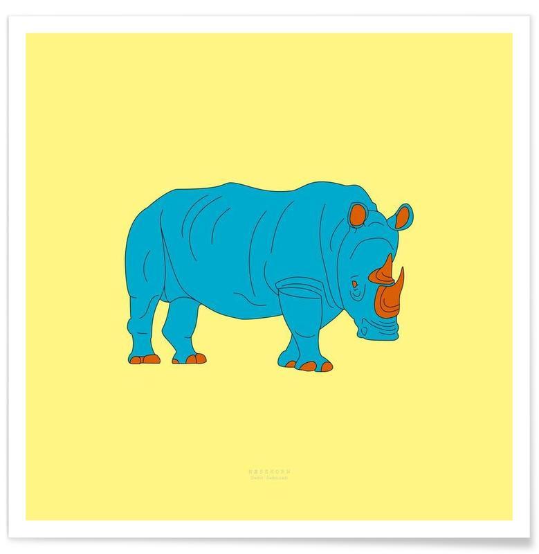 Rhinocéros, Nashorn affiche