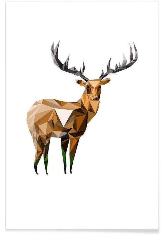 Deer, H.Hjorte Poster