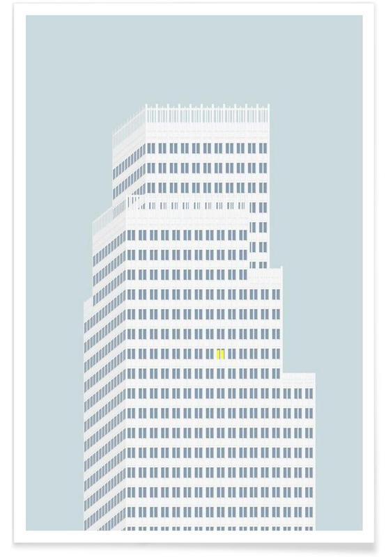 Wolkenkratzer & Hochhäuser, Over Hustagene -Poster