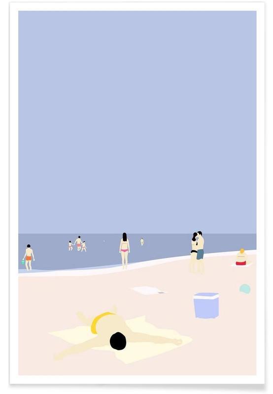 Abstrakte Landschaften, På Stranden -Poster