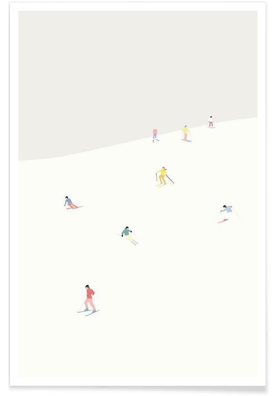 Skiløb og snowboarding, Skibakken Plakat