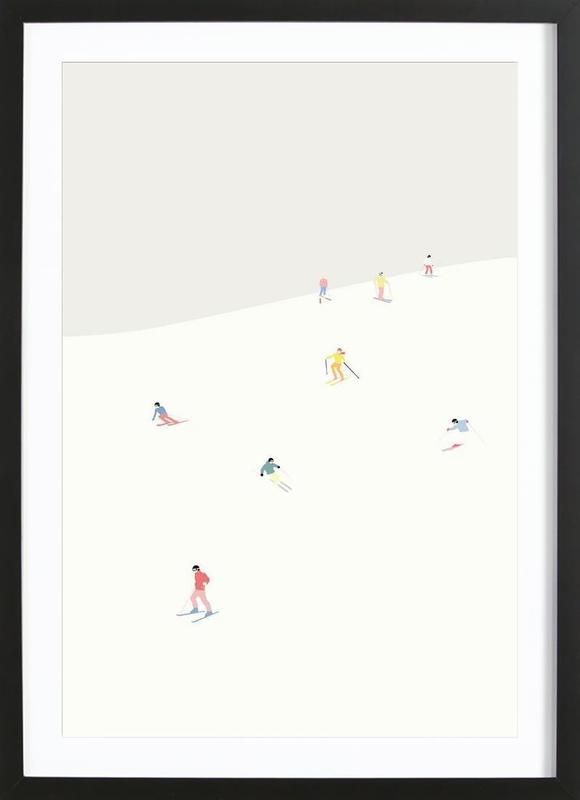 Skibakken Framed Print