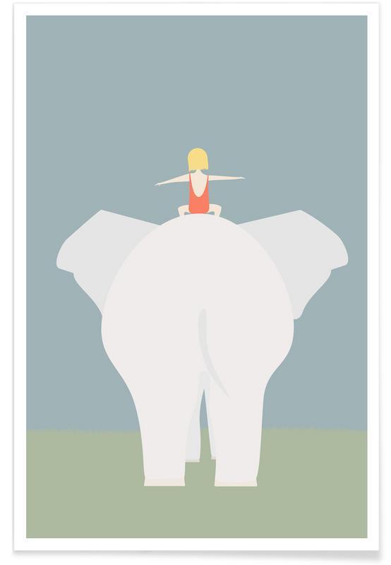Éléphants, Den Lille Pige Og Elefanten affiche