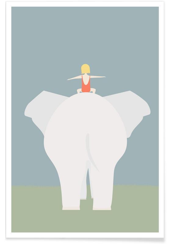 Elefanten, Den Lille Pige Og Elefanten -Poster
