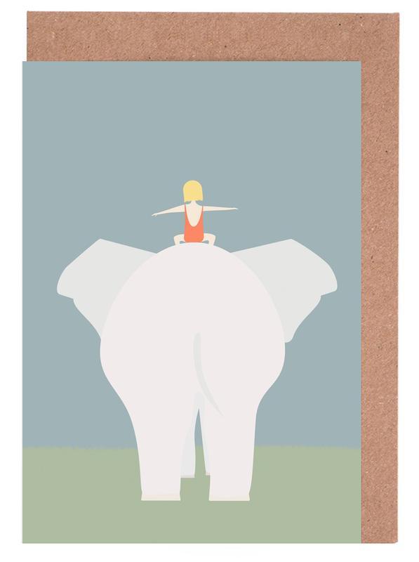 Den Lille Pige Og Elefanten cartes de vœux