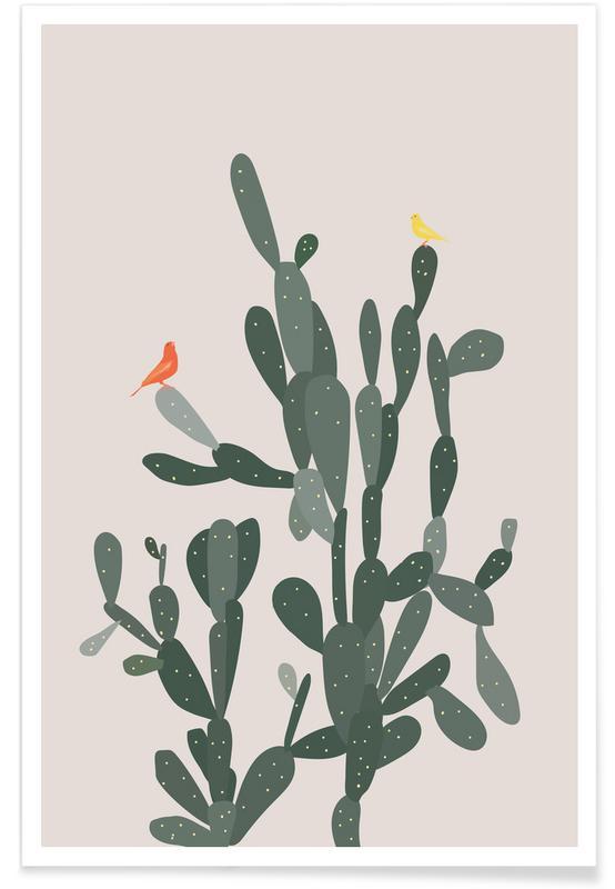 Cacti, Fugl Par Poster