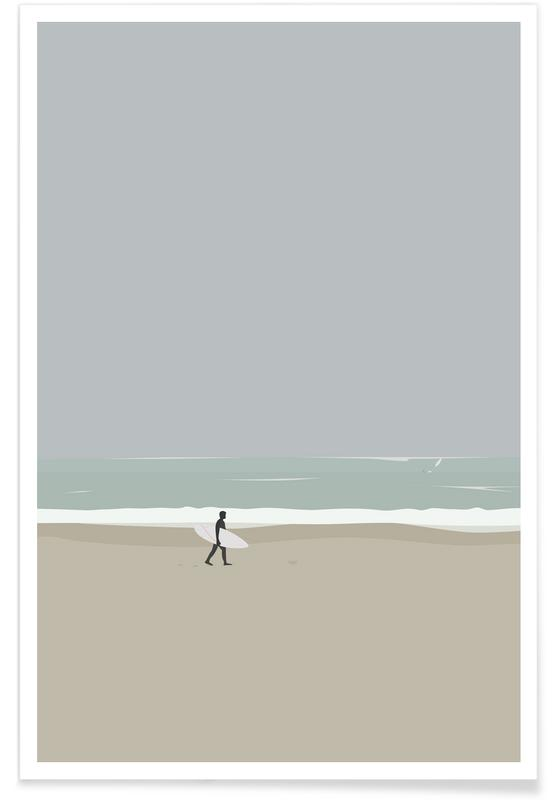 Plages, Surf, Lære At Surf affiche