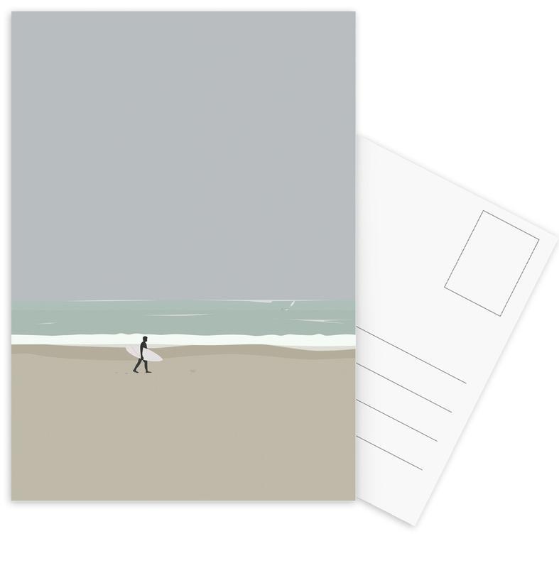 Strände, Surfen, Lære At Surf -Postkartenset