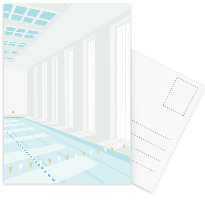 Natation, Svømmehal cartes postales