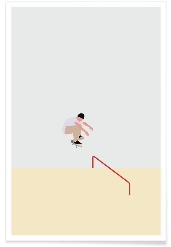 Skating, Skateboarding -Poster