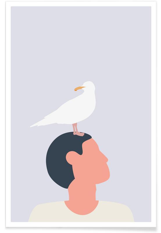 Portraits, Mågefugle Poster