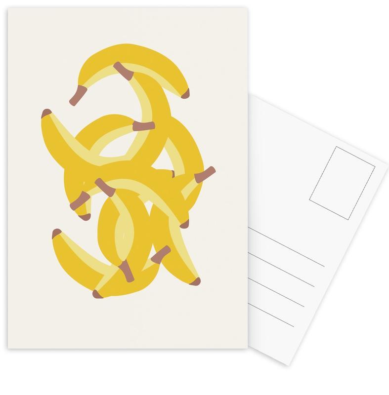 Bananas, Jeg Elsker Bananer Postcard Set