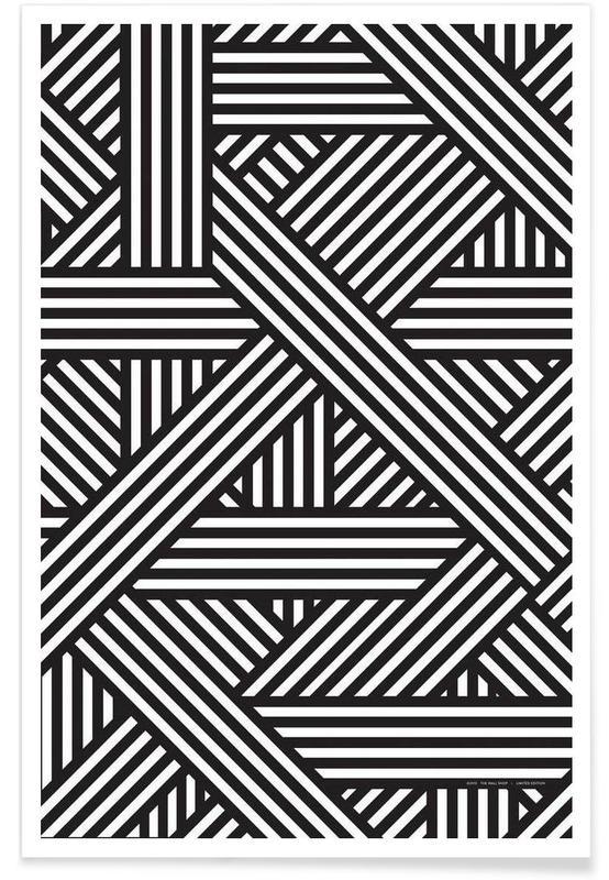 Noir & blanc, Motifs, B&W Lines affiche