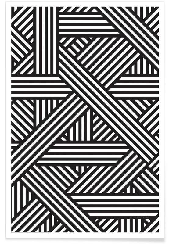 B&W Lines -Poster
