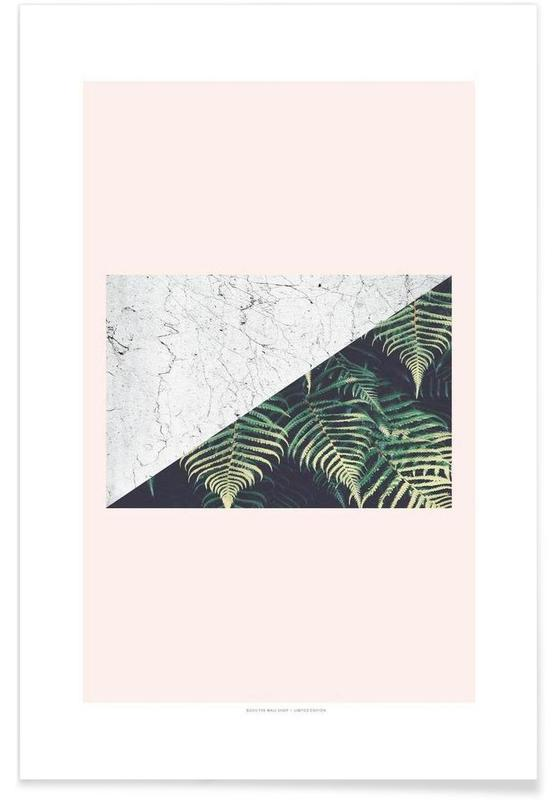Leaves & Plants, Tropical Geometry Poster