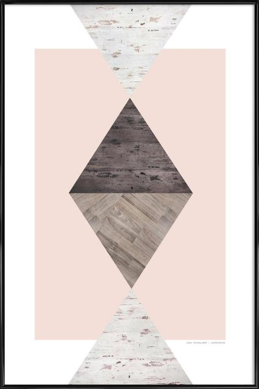 Wood N.1 ingelijste poster