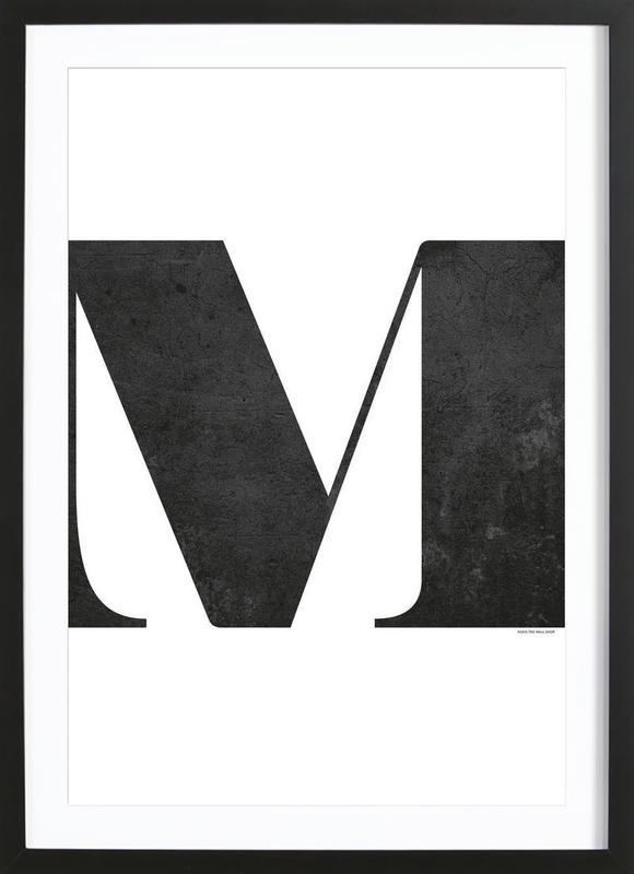 M -Bild mit Holzrahmen