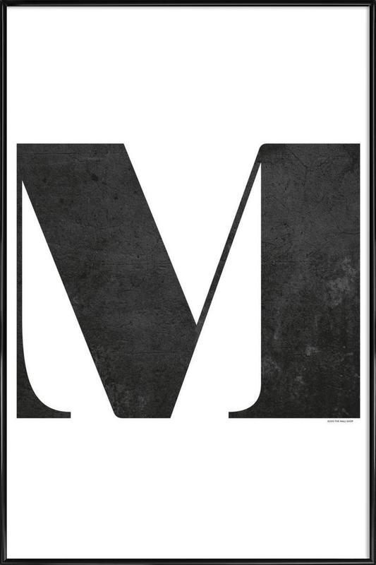 M Framed Poster