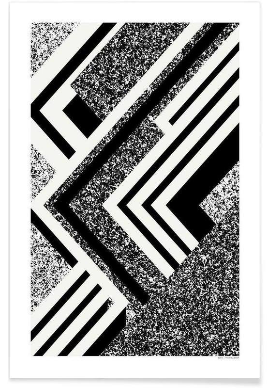 Black & White, Abstract 1 Poster