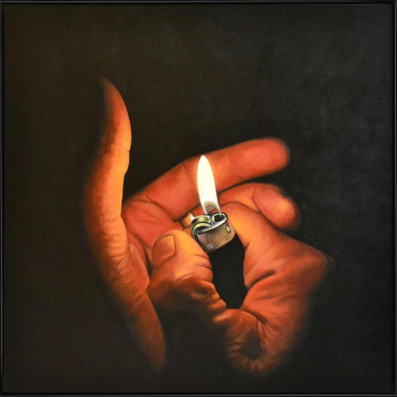 Lightmyfire -Bild mit Kunststoffrahmen