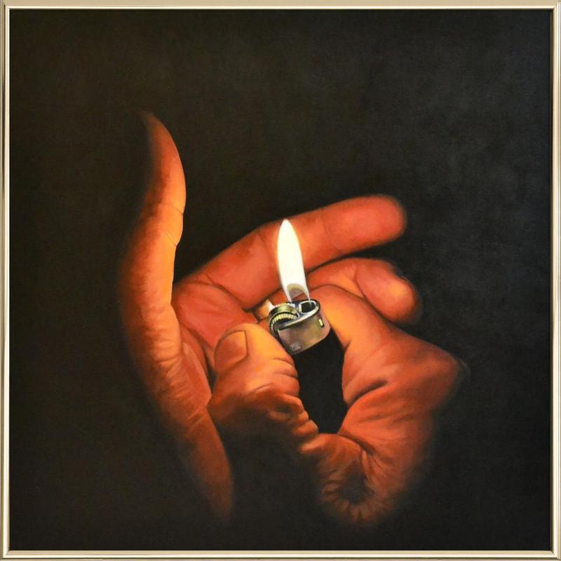 Lightmyfire -Poster im Alurahmen