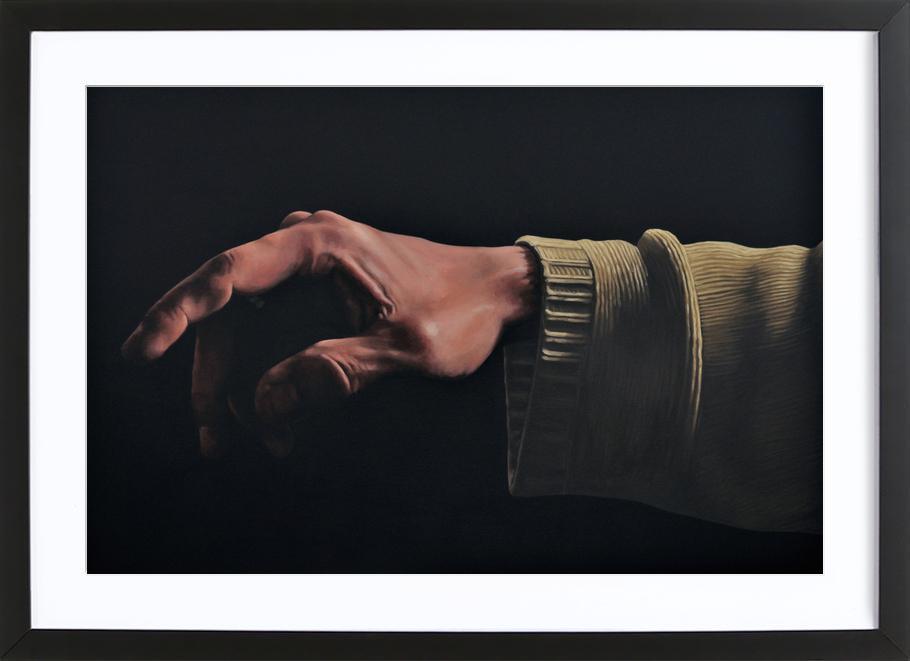 Main du Créateur -Bild mit Holzrahmen